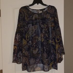 Paisley high low blouse